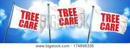 tree care, 3D rendering, triple flags