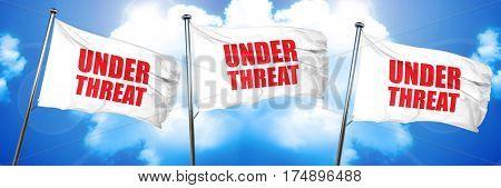 under threat, 3D rendering, triple flags