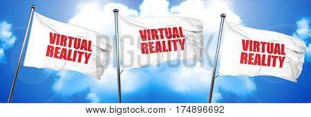 virtual reality, 3D rendering, triple flags