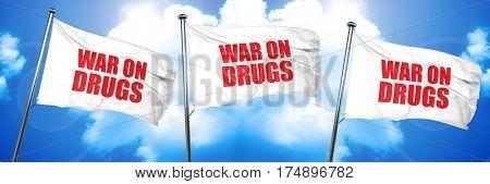 war on drugs, 3D rendering, triple flags