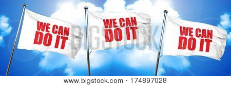 we can do it, 3D rendering, triple flags