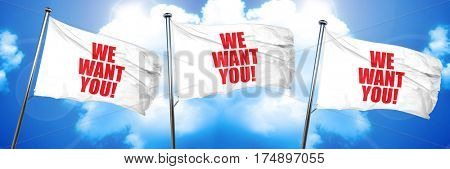 we want you!, 3D rendering, triple flags