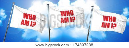 who am i?, 3D rendering, triple flags