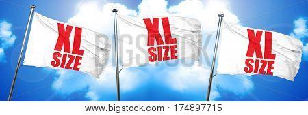 xl size, 3D rendering, triple flags
