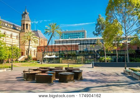 Adelaide Australia - November 11 2016: South Australian Museum located on North Terrace in Adelaide CBD on a day