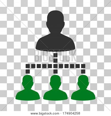 People Hierarchy icon. Vector illustration style is flat iconic bicolor symbol green and gray colors transparent background. Designed for web and software interfaces.