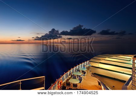 Back Deck Of Cruise Line Ship