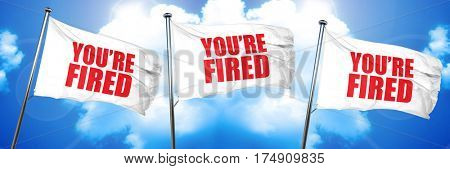you're fired, 3D rendering, triple flags