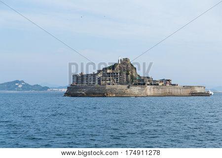 Hashima Island in Nagasaki city of Japan