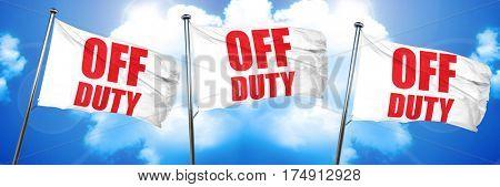 off duty, 3D rendering, triple flags