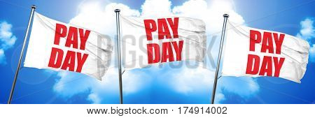 pay day, 3D rendering, triple flags