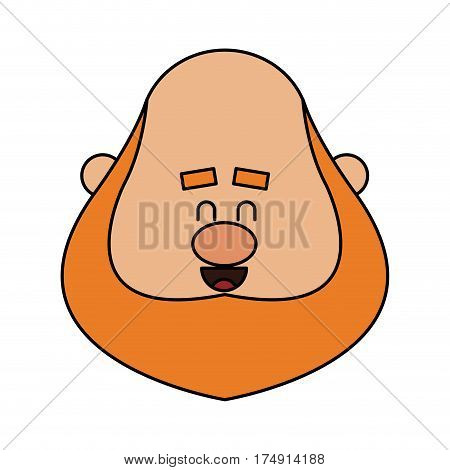 chubby red hair man face icon image vector illustration design