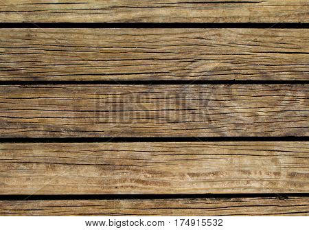 Vintage wood background. Natural wood texture with horizontal lines. Wooden background for banner. Timber texture closeup. Horizontal wooden planks of floor backdrop photo. Natural material for banner