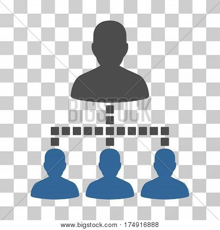 People Hierarchy icon. Vector illustration style is flat iconic bicolor symbol cobalt and gray colors transparent background. Designed for web and software interfaces.