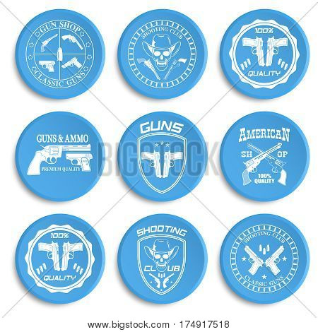 Classic Guns emblem with pistols vector illustration