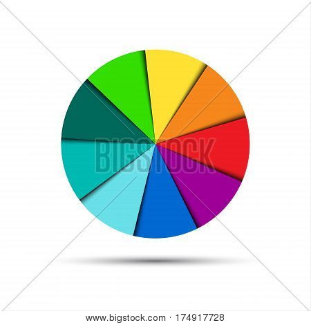 Color round palette isolated on white background vector illustration