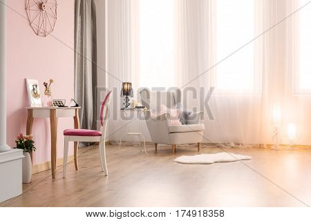 Pink Room With Dressing Table