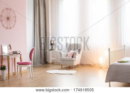 Romantic Bedroom With Armchair