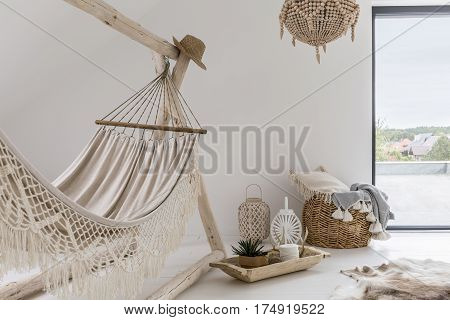 Room Interior With Hammock