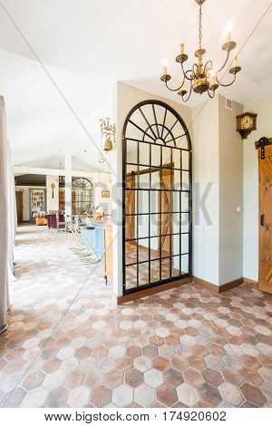 Spacious Hallway With Entrance To Living Room