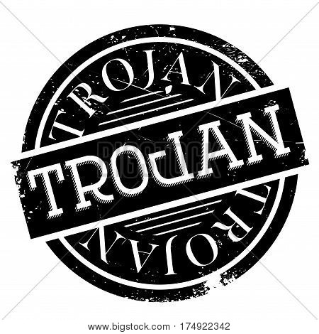 Trojan rubber stamp. Grunge design with dust scratches. Effects can be easily removed for a clean, crisp look. Color is easily changed.