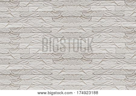 White painted brick wall background. Texture, gypsum