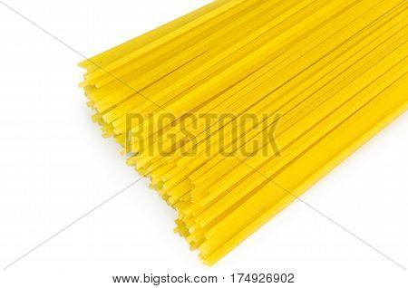 Vermicelli Spaghetti, Pasta From Durum Wheat. Isolated