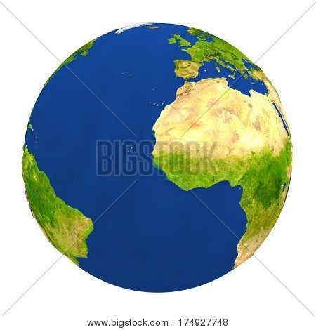 Gambia Highlighted On Earth