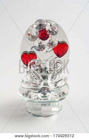 Crystal Swan, Elegant, Glass, Souvenir, G