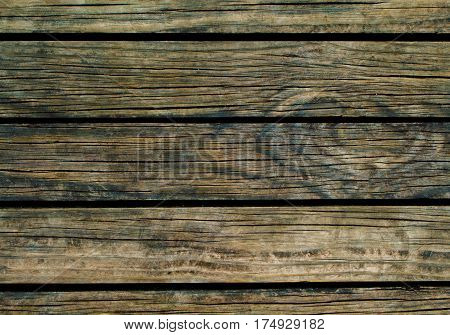 Dark wood background. Natural wood texture with horizontal lines. Wooden background for banner. Timber texture closeup. Horizontal wooden planks of floor backdrop photo. Natural material for banner