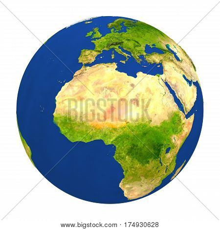 Niger Highlighted On Earth