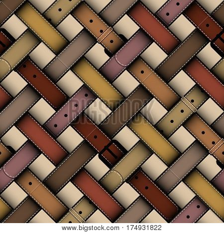 Seamless background pattern. Diagonal plaid pattern with a belts.