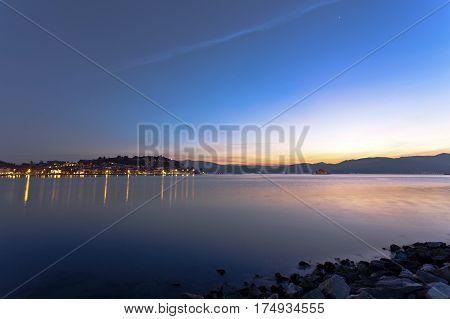 Long exposure shot, long exposure tropical sea and sky sunset
