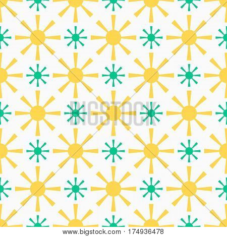 Endless texture for wallpaper, wrapping paper, surface background texture, pattern fill. Vector geometric Shrovetide ornament with sun beams