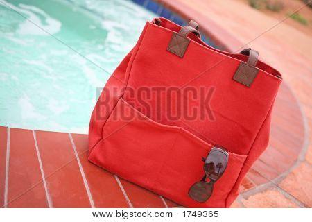 Beach Bag By The Pool