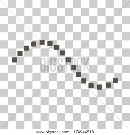 Dotted Function Line icon. Vector illustration style is flat iconic symbol, grey color, transparent background. Designed for web and software interfaces.
