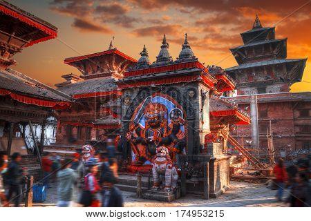 Kali Statue In Kathmandu