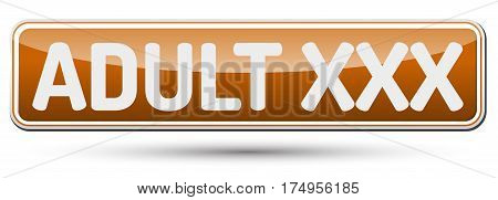 Adult Xxx - Abstract Beautiful Button With Text.