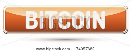 Bitcoin - Abstract Beautiful Button With Text.