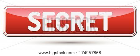 Secret - Abstract Beautiful Button With Text.