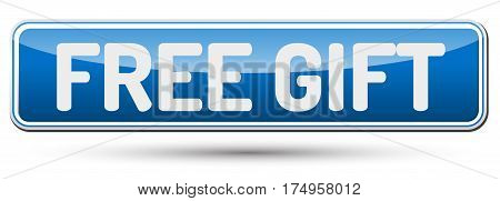 Free Gift - Abstract Beautiful Button With Text.