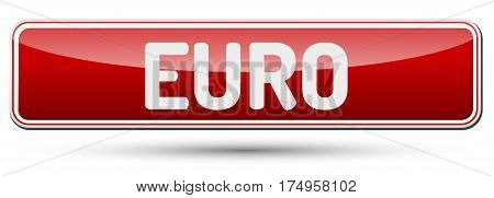 Euro - Abstract Beautiful Button With Text.