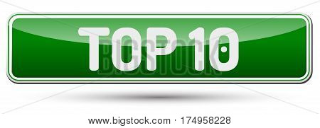 Top 10 - Abstract Beautiful Button With Text.