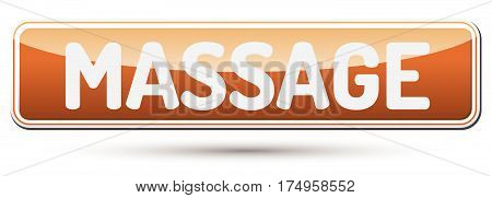 Massage - Abstract Beautiful Button With Text.