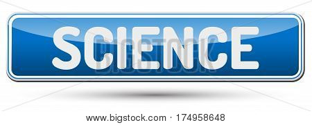Science - Abstract Beautiful Button With Text.
