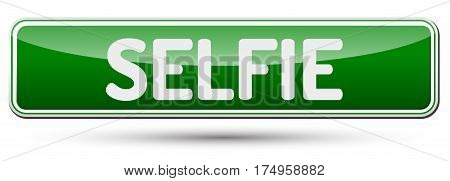 Selfie - Abstract Beautiful Button With Text.