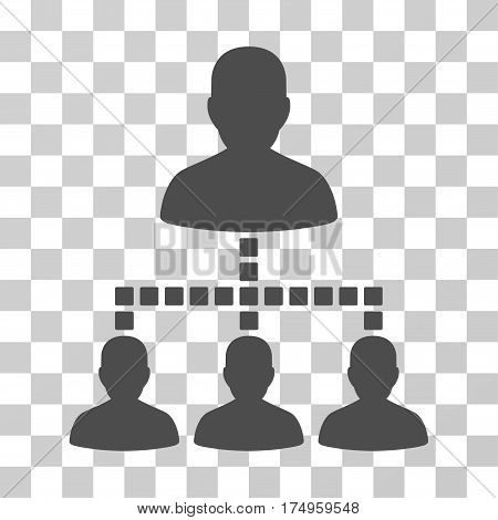 People Hierarchy icon. Vector illustration style is flat iconic symbol, gray color, transparent background. Designed for web and software interfaces.