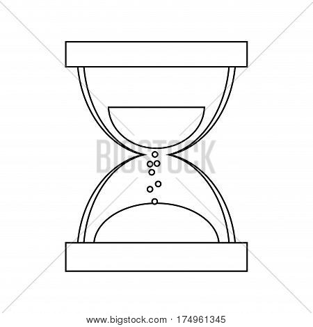 hourglass or sandglass icon imagevector illustration design