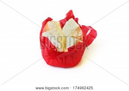 Steamed cup cake or cotton wool cake on white background dessert for chinese new year festival.