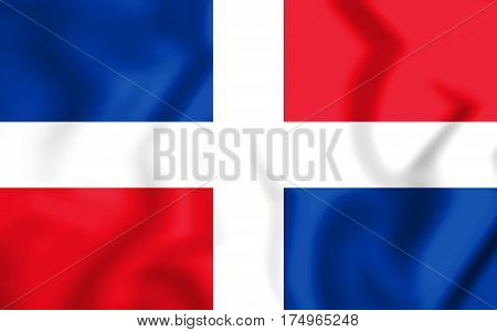 +++civil_ensign_of_the_dominican_republic